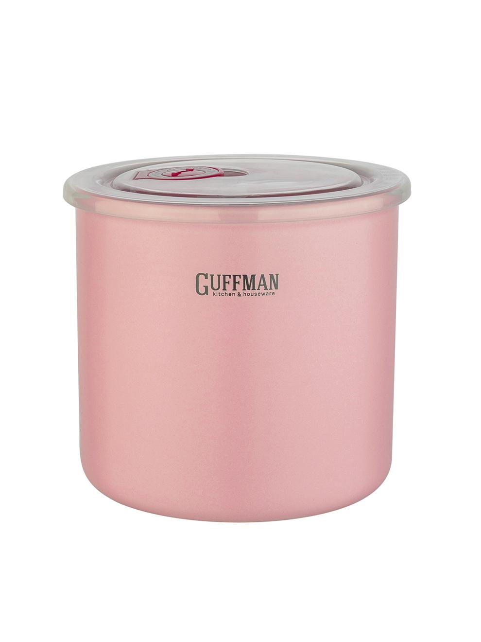 Банка керамическая с крышкой 1л Guffman розовая