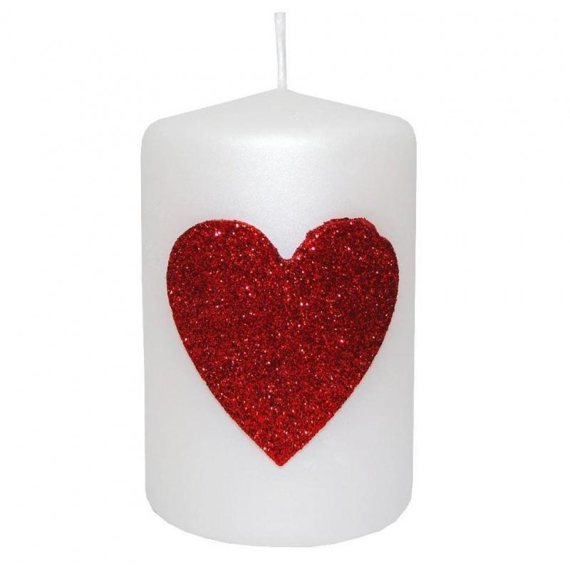 Свеча декоративная Сердечко 6х9 см