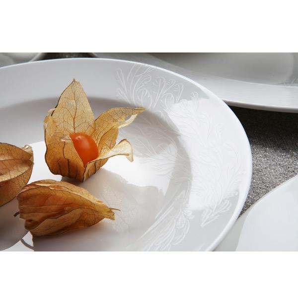 Сервиз столовый «Феникс на 27 предметовБлагодаря бренду  Royal Aurel  каждая хозяйка сможет сделать кухню особенной. Сервиз этого бренда изготовлены из высококачественного костяного фарфора, благодаря чему имеют безупречный и неповторимы вид. До мелочей проработав каждую деталь предметов, сервиз выглядит очень утонченно и сдержано<br>