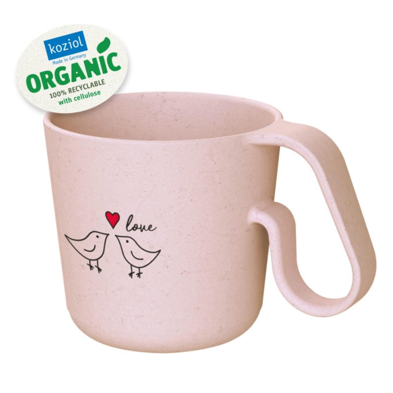 Кружка MAXX Bird Love organic 350 мл розовый фото