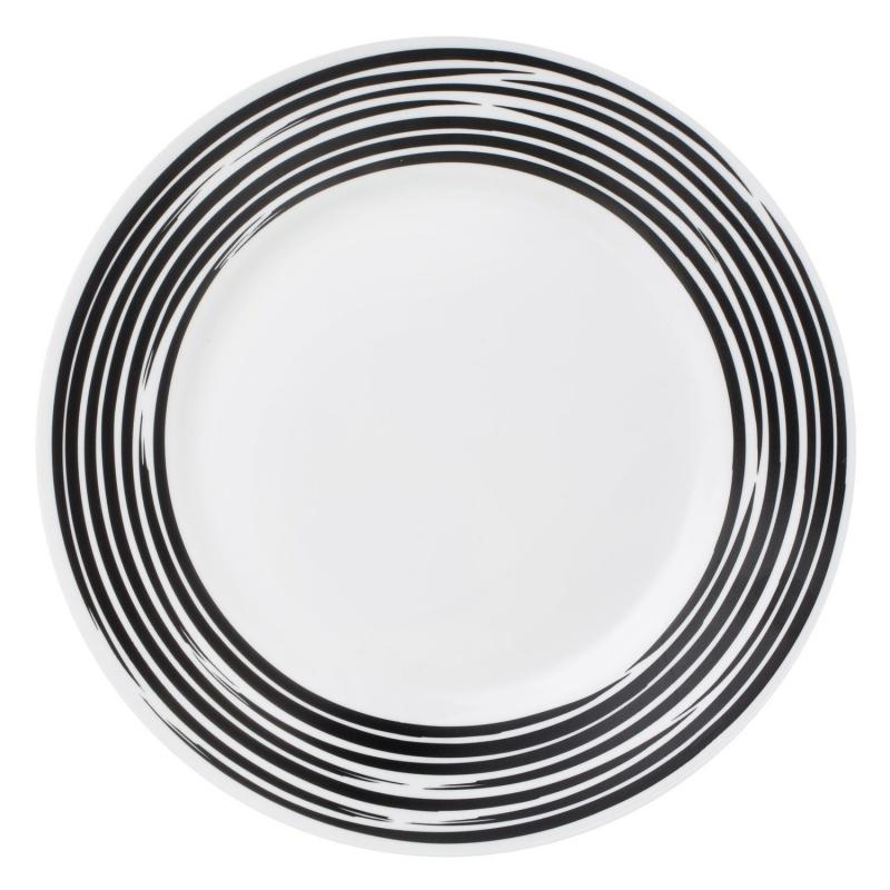 Тарелка сервировочная 22 см Corelle Brushed Black