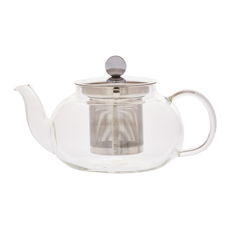 Чайник заварочный стеклянный с фильтром 500 мл. Лун-ДзинСтеклянный чайник для заварки Лун-Дзин поможет организовать чаепитие в теплом семейном кругу или веселой дружеской компании. Сквозь прозрачные стенки удобно контролировать процесс заваривания чтобы получить напиток необходимой крепости и насыщенности. Заварка находится в стальном фильтре, что исключает попадание чаинок в кружки и чашки.Стеклянная ручка надежна, удобной формы. Берясь за нее не возникает опасений, что чайник выскользнет из пальцев. Носик длинный, с классической формы и наклона – разливать из него чай по кружкам одно удовольствие.<br>