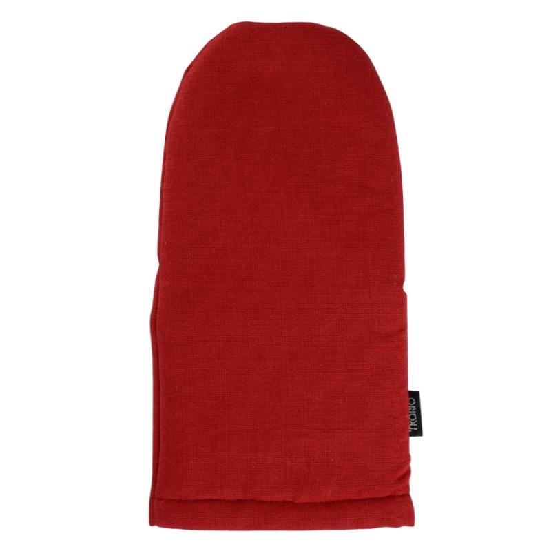 Варежка-прихватка из хлопка Tkano красная