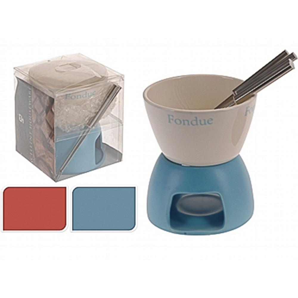 Набор для приготовления фондюExcellent Houseware производит посуду и различные предметы для дома. Фондюшница - необходимый аксессуар современной хозяйки, домочадцы которой любят сырное или шоколадное фондю, потому что без специального прибора приготовить фондю крайне сложно. В комплекте идут специальные шпажки. Внимание! Выбирать цвет заранее не представляется возможным.<br>