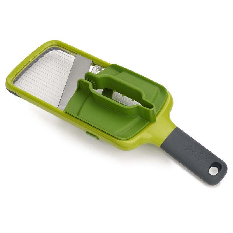 Купить со скидкой Терка с держателем для продуктов Joseph Joseph Mandoline зеленая