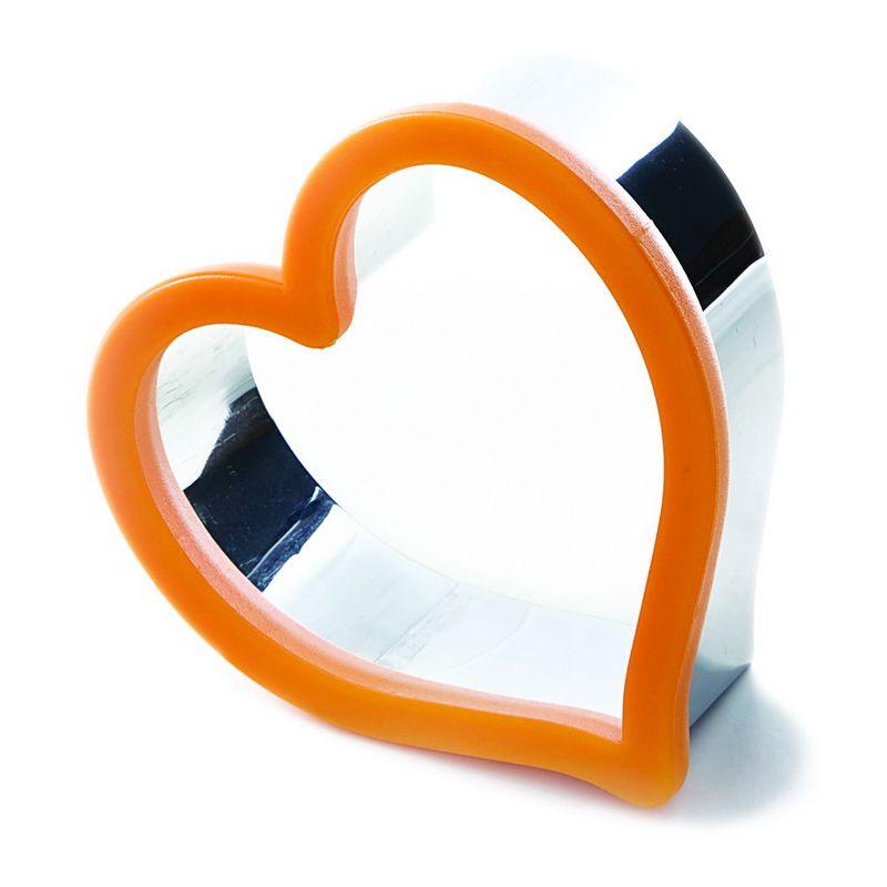 Форма для печенья сердце размерФорма для печенья от Гудьюни «Сердце» позволяет создавать оригинальную выпечку в форме сердечка. Идеально подойдет как для домашних экспериментов на вашей кухне, так и для украшения праздничных столов. Благодаря материалу изготовления «нержавеющая сталь» с ободком из качественного пластика пользоваться формочкой удобно и обычной хозяйке, и профессиональному кондитеру. Изделие не темнеет со временем, устойчиво к высокой температуре, легко моется и не портится от воды.<br>