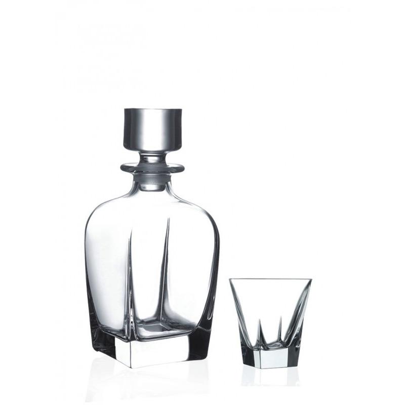 Набор для виски штоф+6 стаканов FUSIONИзделия от бренда RCR изготовлены из высококачественных материалов, что позволяет использовать их долгие годы. Хрустальные изделия не требуют специального ухода и обладают ударостойкими качествами<br>