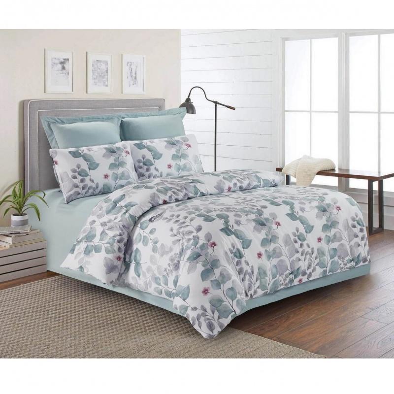 Комплект постельного белья Sofi de Marko сатин зеленый, серый