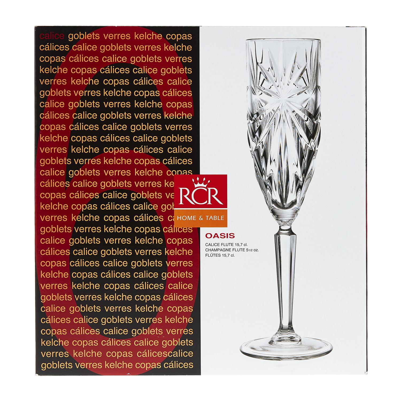Набор бокалов для шампанского 160 мл. 6 шт. OASISНабор бокалов для шампанского Оазис отличается изысканностью и элегантностью дизайна. Высокие стенки узкого бокала обеспечивают длительное сохранение вкуса и аромата игристого напитка, а преломление света в гранях стекла привнесет в ваш праздник настроение торжественности и роскоши. Бокалы изготавливаются из прочного стекла, для создания которого не применяются токсичные вещества. Набор станет универсальным выбором для дома, а также подойдет для применения в барах и ресторанах благодаря универсальному исполнению. Набор бокалов для шампанского Оазис – выбор для самых ярких праздников.<br>