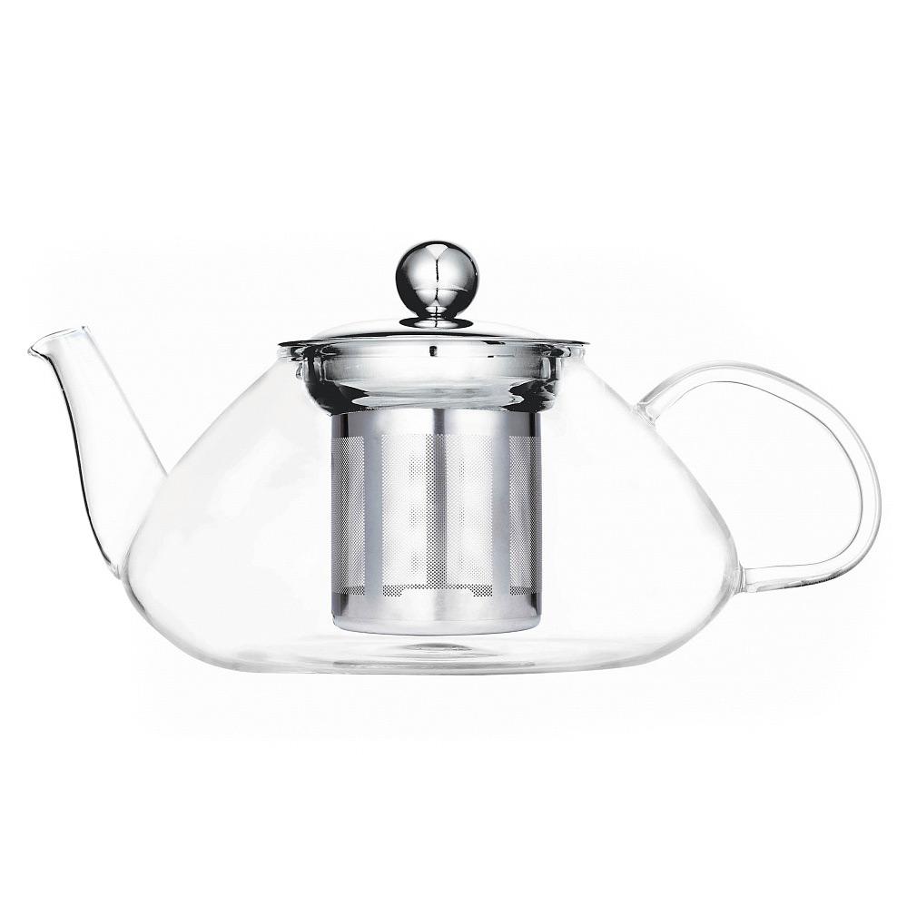 Чайник «У-лун», с фильтром, 600 млЧайники имеют интересный современный дизайн и изготовлены из прозрачного стекла. Использовать такой чайник на кухне очень удобно. Благодаря прозрачному стеклу можно насладится бархатистым цветом любимого чая. Также в чайнике чай остается дольше горячим, что особенно будет приятно в холодное время года.<br>