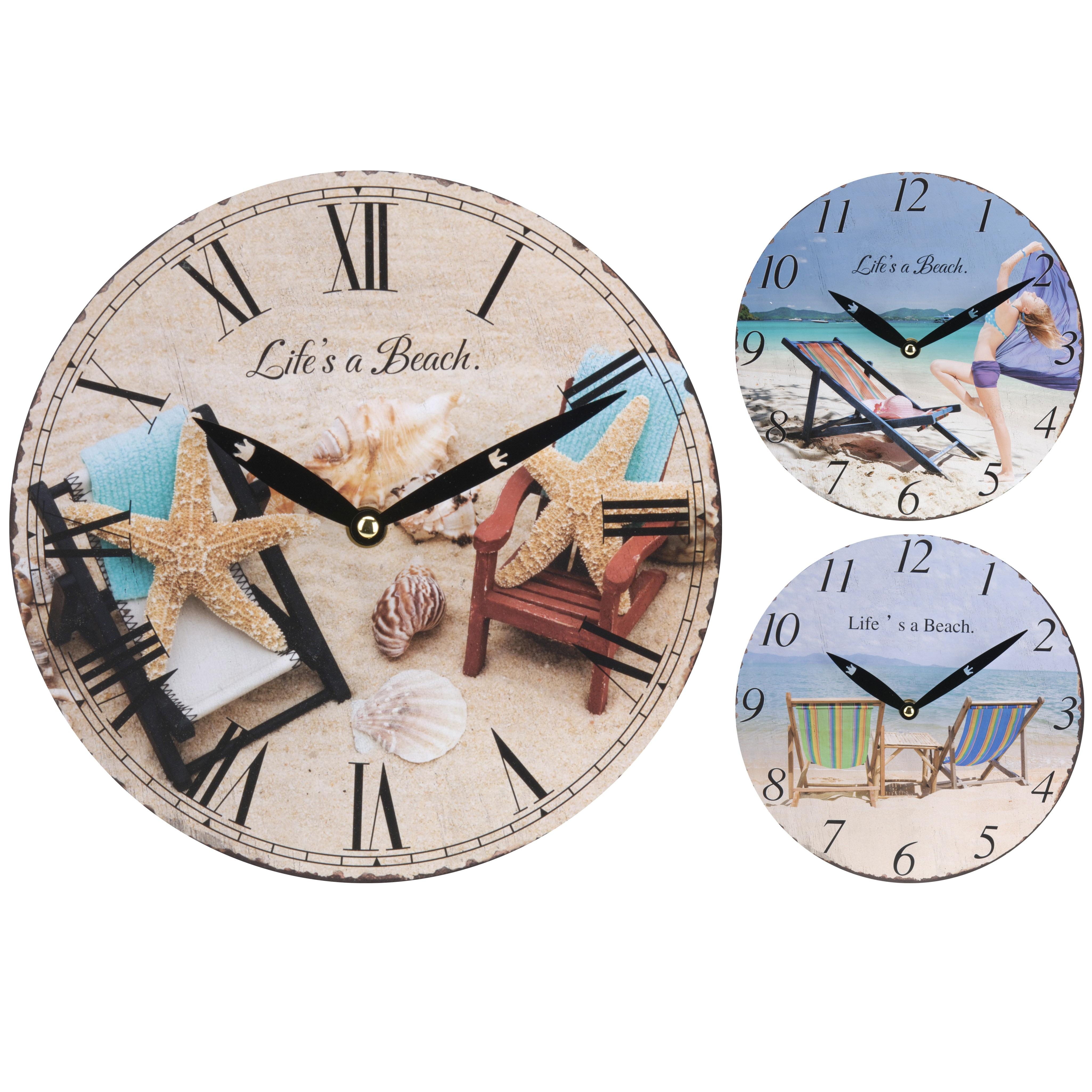 Часы ПляжExcellent Houseware производит посуду и предметы для дома. Часы - это замечательный аксессуар, он позволяет всегда знать точное время, создает уютную атмосферу, а также украшает стены и интерьер в целом. Внимание! Выбрать цвет заранее не представляется возможным.<br>