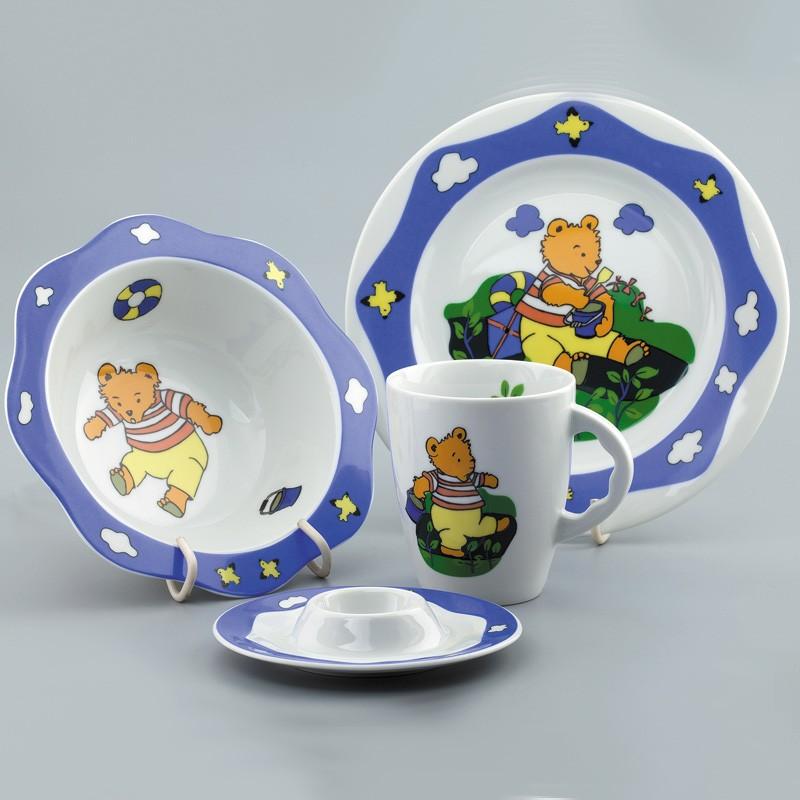 Набор детской фарфоровой посуды &quot,Мишка-моряк&quot,