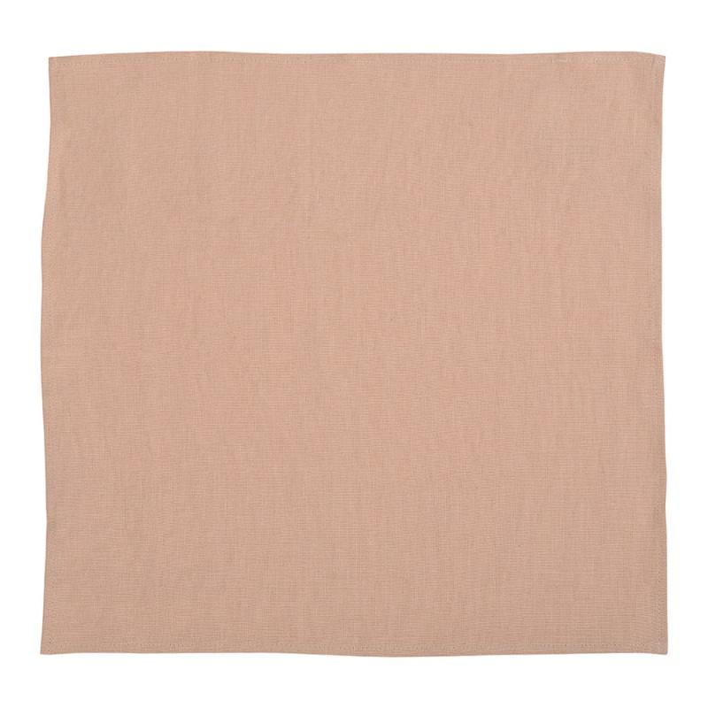 Салфетка сервировочная салфетка из умягченного льна Tkano Essential розово-пудровая