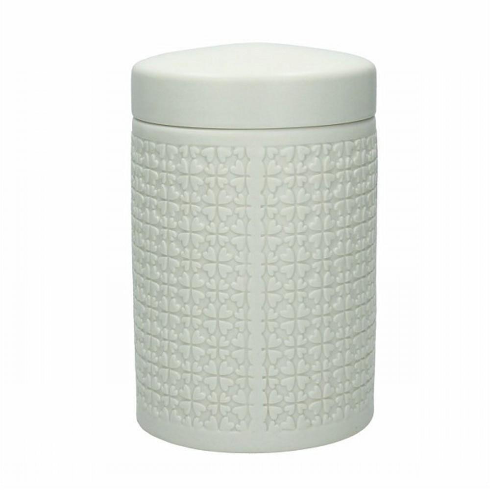 Банка для хранения DOLCE CA MELROSEБанка для хранения сделана из высококачественной керамики. Она отлично подойдет для хранения сыпучих продуктов, конфет или чая. Благодаря ее классичкому цвету и форме, она отлично подойдет к вашей кухонной коллекции посуды.<br>