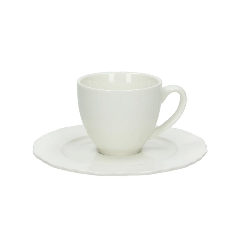 Чашка с блюдцем кофейная 90 мл BUTTERFLYЧашка с блюдцем сделана из высококачественного фарфора. Благодаря ее оригинальному дизайну, она станет отличным подарком на любой праздник вашим друзья или близким. Коллекционеры посуды и настоящие ценители по достоинству оценят этот набор.<br>