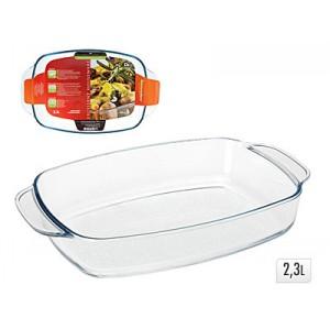 Форма для запекания 2,3 л.Форма для запекания сделана из стекла. Она жаропрочная, благодаря чему вы сможете использовать ее для приготовления абсолютно любых блюд.<br>