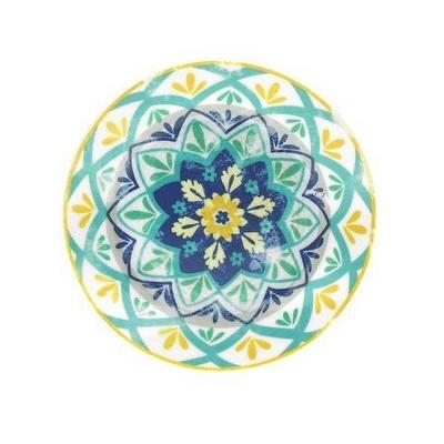 Тарелка десертная 20 см OLIMPIA  ALHAMBRA синий, зеленыйТарелка десертная OLIMPIA ALHAMBRA - это образец изысканной формы и элегантного декора. Стиль и высокое качество качество - отличительные черты продукции Tognana.<br>
