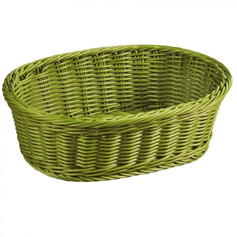 Корзина для хлеба и фруктов плетеная Kesper 29,5х23 см оливковая