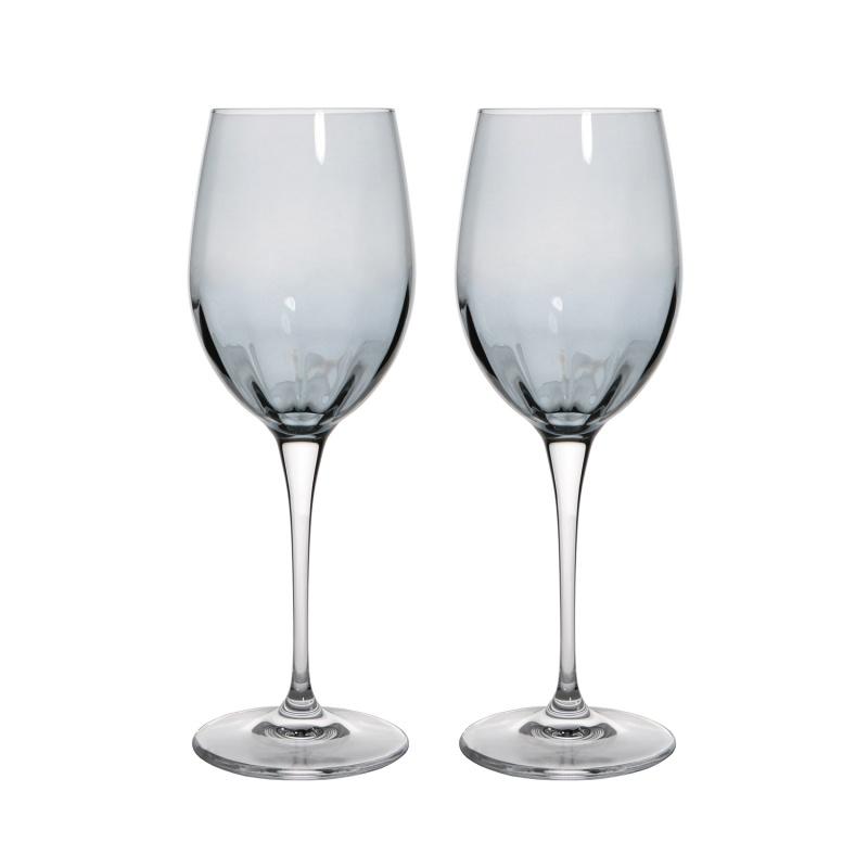 Набор бокалов для белого вина 2 шт 385 мл Le Stelle Monalisa серый