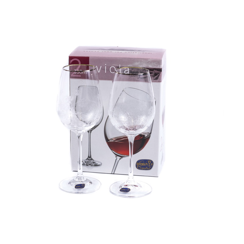 Набор бокалов для вина 2 шт 350 мл Viola