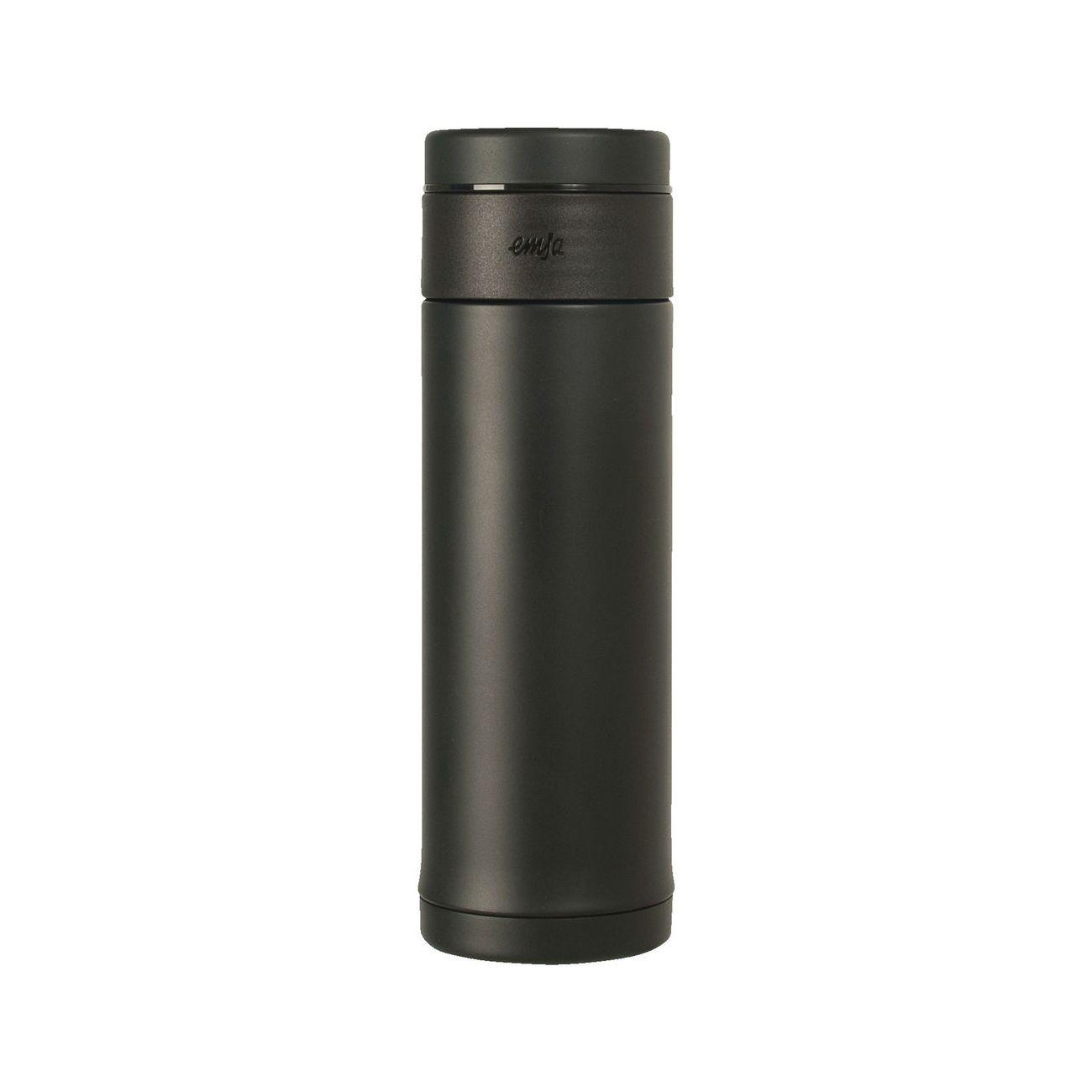 Термос-кружка EMSA MOBILITY SLIM0,42 л чернаяТермос изготовлен из высококачественной нержавеющей стали. Он отлично держит температуру вашего напитка в течение длительного времени. Вы сможете взять свой напиток с собой в дорогу и пить его где бы вы не находились. Термос герметичен и на 100% экологически безопасен.<br>