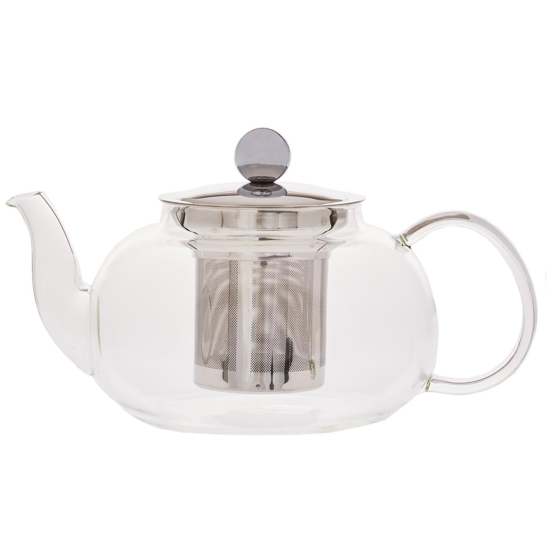 Чайник заварочный стеклянный с фильтром Лун-дзин 800млЧайник заварочный стеклянный с фильтром Лун-дзин предназначен для удобного и правильного заваривания ароматного чая. Модель изготовлена из стекла, поэтому в процессе заваривания напиток будет радовать вас и ваших гостей красивым насыщенным цветом. Чайник оснащен фильтром из металлической сетки, которая делает процесс заваривая более комфортным, так как чаинки не попадают в готовый напиток. Металлическая крышка оборудована ручкой для придерживания во время наливания. Чайник заварочный Лун-дзин подходит как для черного или зеленого чая, так и для других видов завариваемых напитков.<br>