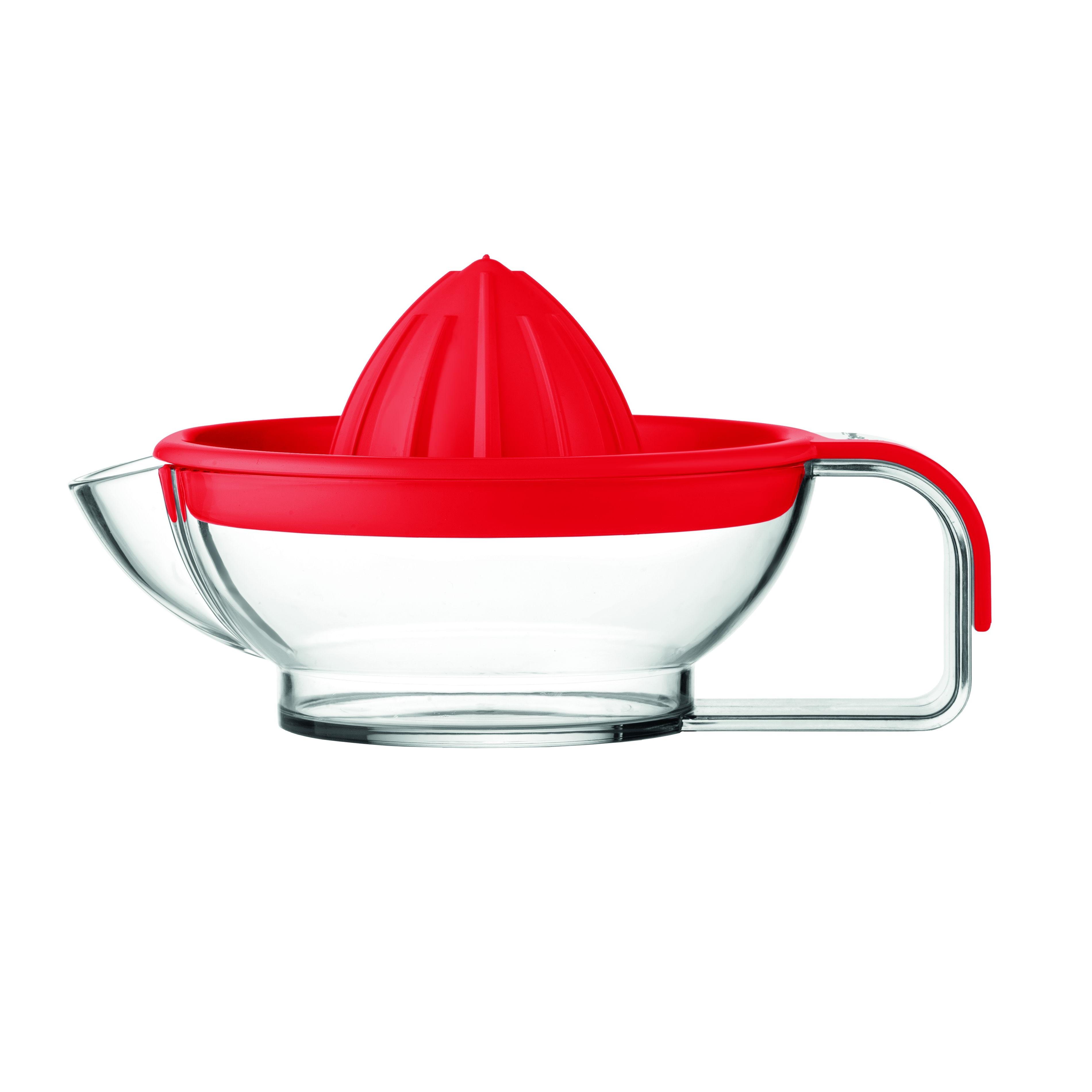 Соковыжималка для цитрусовых MY KITCHEN краснаяСоковыжималка для цитрусовых MY KITCHEN идеальна для создания вкусного витаминного напитка из спелых фруктов. Устройство простое в эксплуатации, абсолютно безопасное за счет отсутствия автоматических деталей. Оно легко разбирается и собирается, удобно в уходе и подходит для мытья в посудомоечной машине. Для приготовления сока из апельсинов или грейпфрутов, лимонов или лаймов необходимо разрезать фрукты на половинки, затем прижать половину фрукта к выступающей части крышки, проворачивать в стороны до получения достаточного количества сока. Крышка снабжена фильтрующей решеткой.<br>
