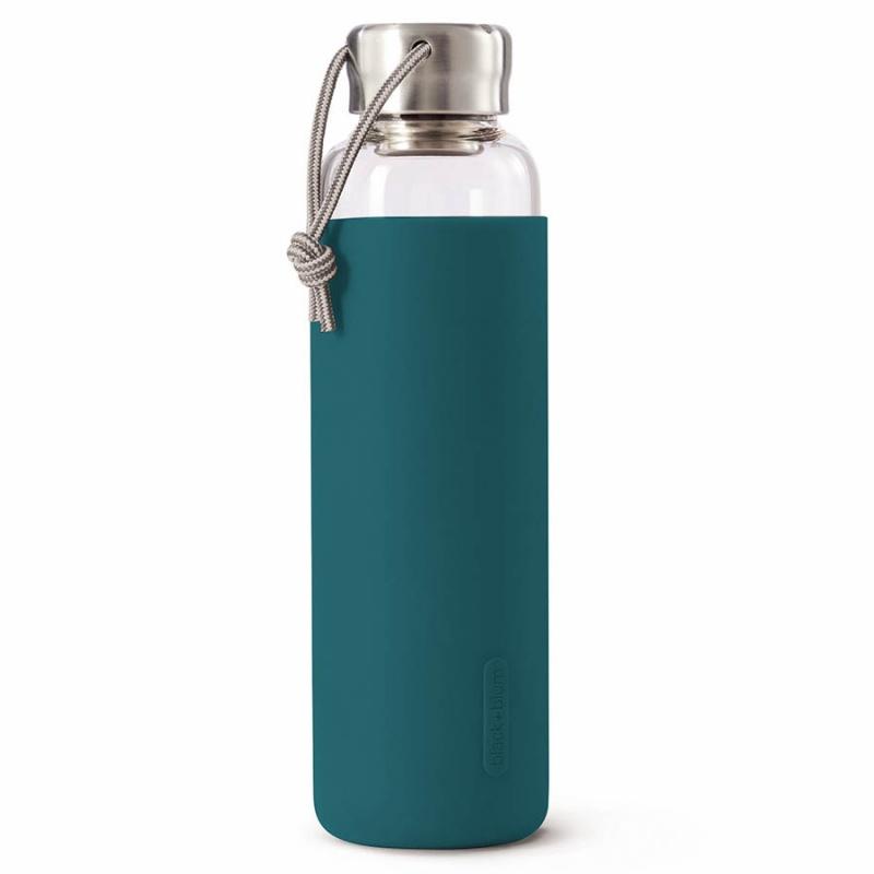 Бутылка для воды стеклянная 600 мл Black+Blum бирюзовая.