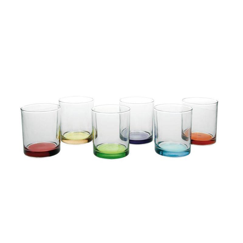 Набор стаканов 6 шт 260 мл мультиколор