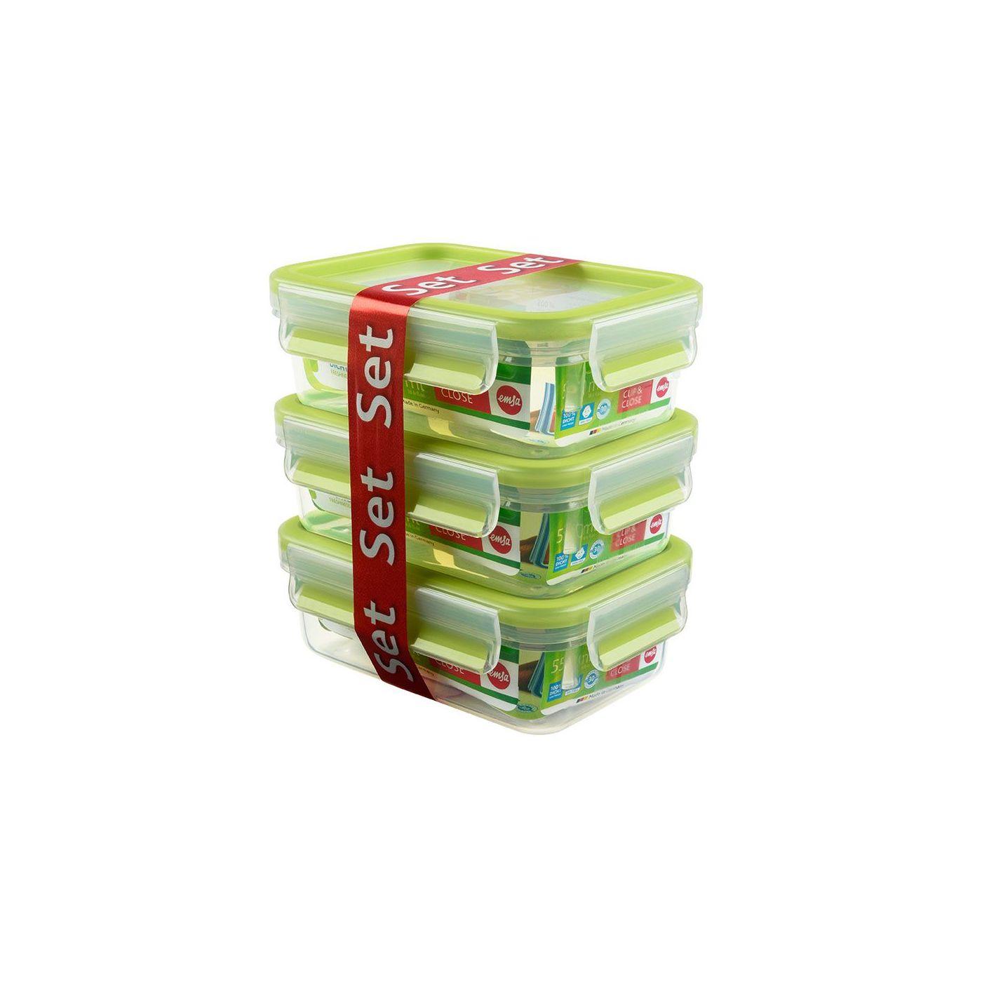 Набор контейнеров CLIP &amp; CLOSE 3*0 55л зеленый<br>
