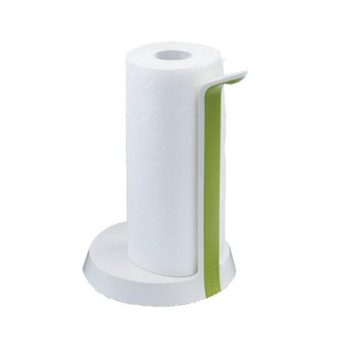 Держатель для бумажных полотенец Easy Tear™ - бело-зеленый зеленыйДержатель Easy Tear™ - отличное дополнение к функциональным и стильным аксессуарам для кухни или ванной. Прибор для полотенец имеет регулируемый фиксатор для разного объема рулонов, держатель с отрывающим механизмом и силиконовое покрытие на дне, котрое не даст держателю скользить по поверхности. Продукция от бренда Joseph Joseph- воплощение смелого и яркого дизайна, а также последних технических инноваций в области кухонной посуды и аксессуаров.<br>