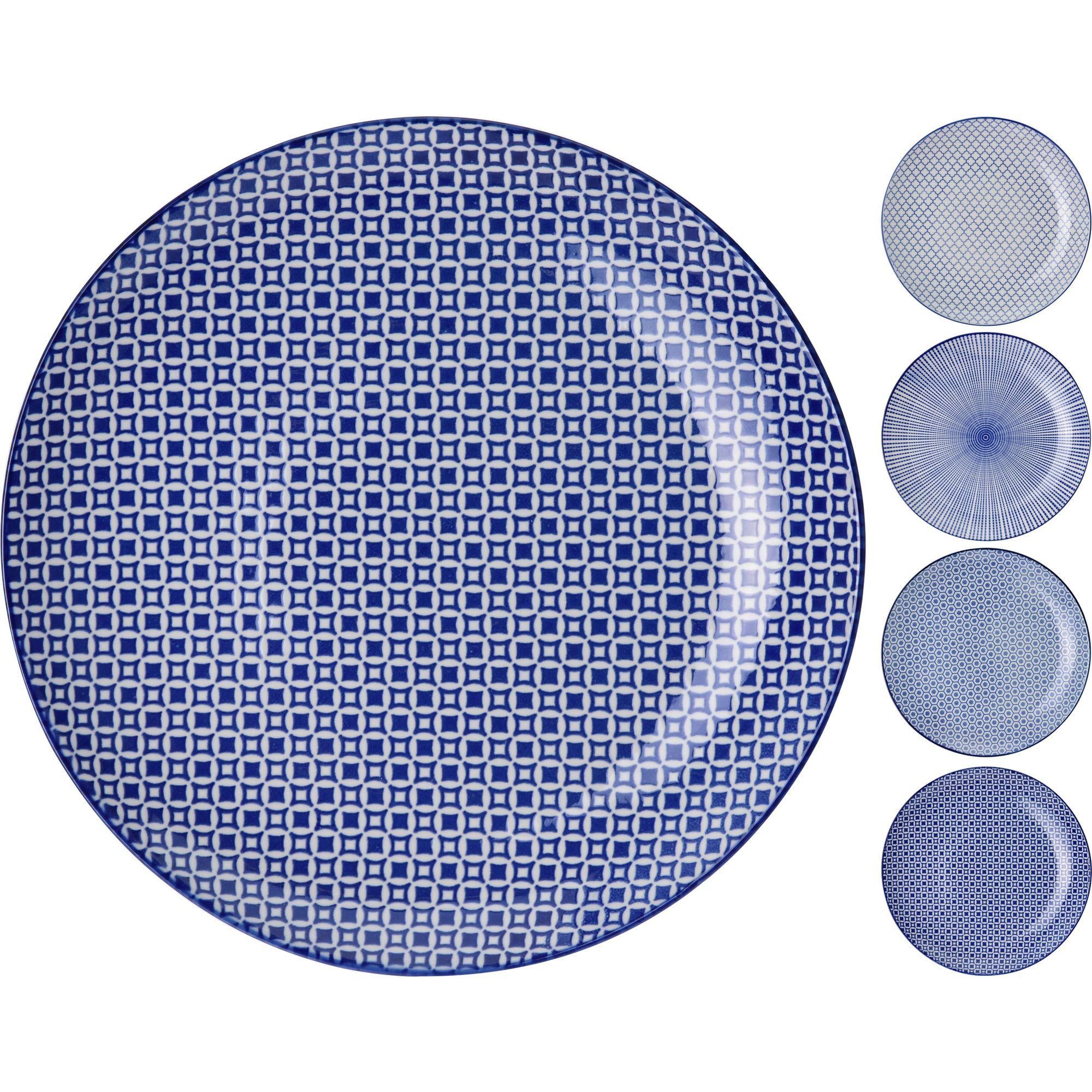 Тарелка 28 см в ассортиментеТарелка 28 см в ассортименте идеально подойдет для применения в доме как для ежедневной, так и для праздничной сервировки. Окружность тарелки среднего размера, она очень удобная, практически не скользит в руках. Оформлена посуда современно, здесь предусмотрен узор из геометрических форм, он мелкий, не слишком выделяется на фоне другой посуды.Удачно подобранная цветовая гамма позволит тарелке торговой марки Экселент Хаусвейр вписаться в кухонный интерьер. Спокойная расцветка не станет раздражать присутствующих за обеденным столом домочадцев или гостей. Использование качественных материалов продлит эксплуатацию этого изделия, а также привлечет потенциальных покупателей.<br>