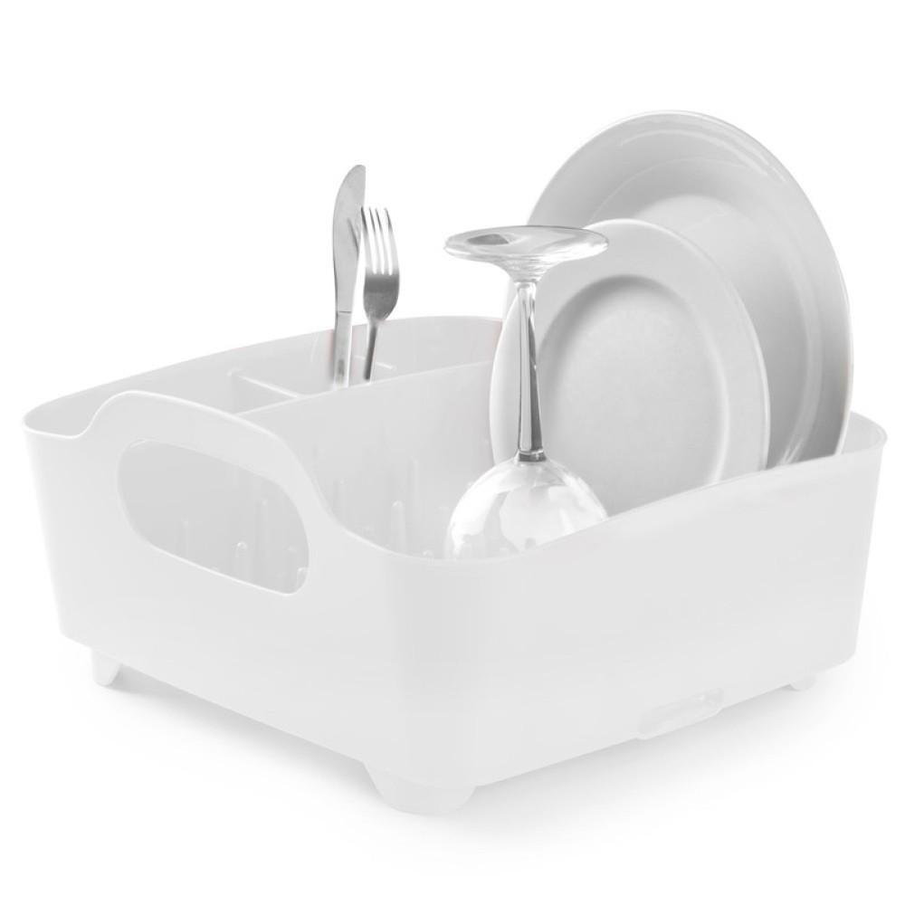 Сушилка для посуды Tub белаяСушилка для посуды от бренда Umbra из высококачественного полипропилена станет верным помощником для хозяек, а интересный дизайн будет отличным украшением для каждой кухни.<br>