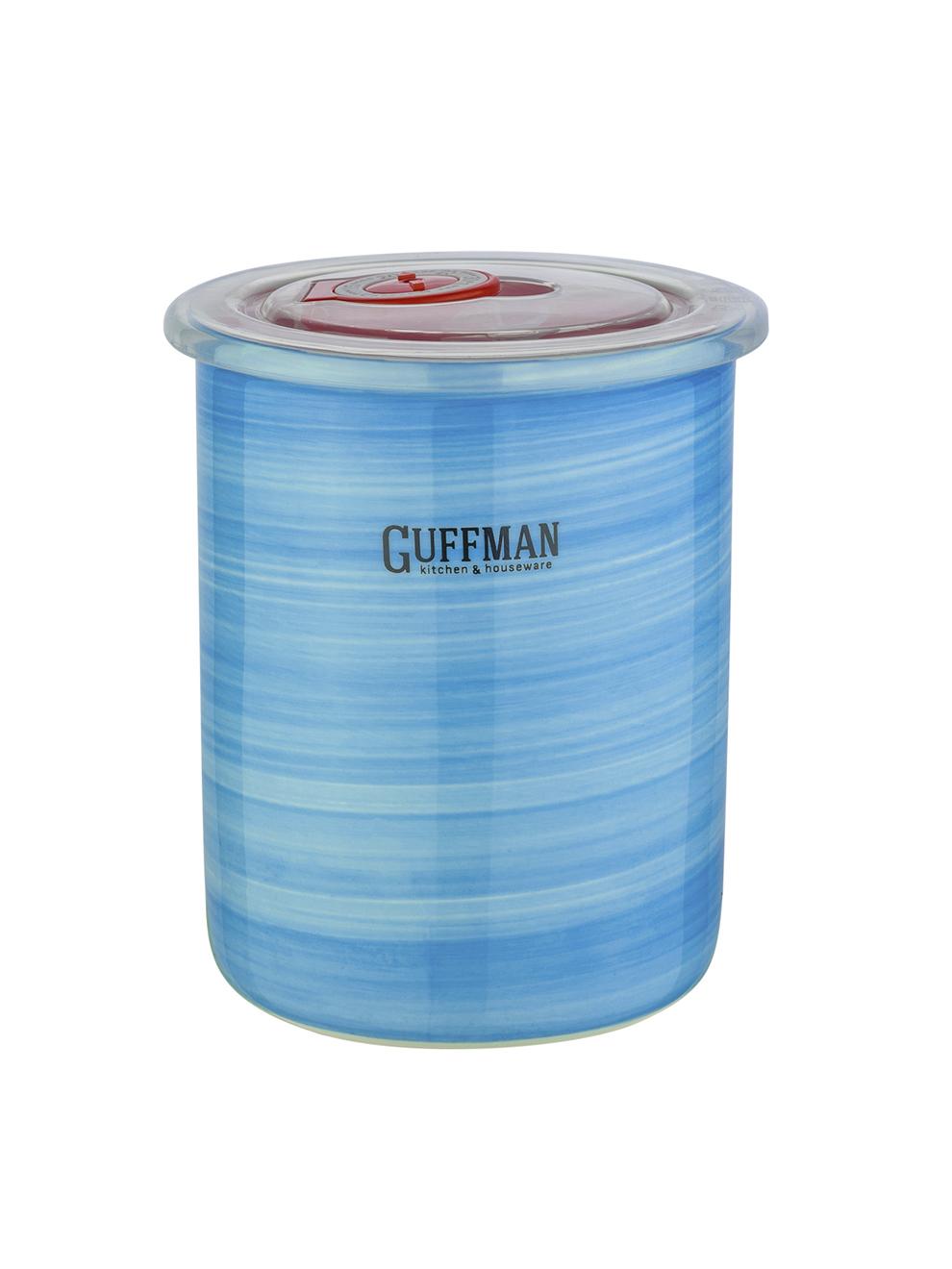 Банка керамическая с крышкой 0,6л Guffman голубая