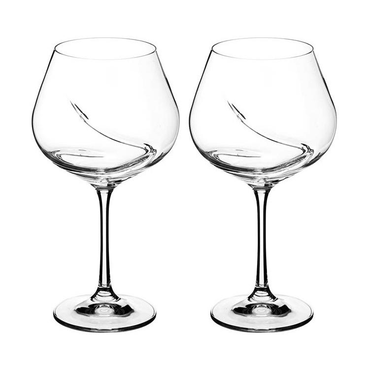 Набор бокалов для вина 2 шт 570 мл Turbulence Bohemia
