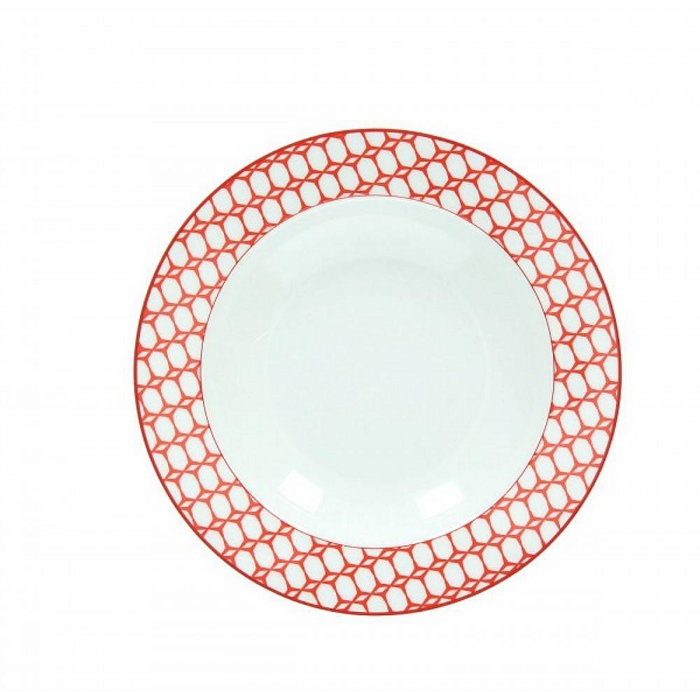 Тарелка суповая OLIMPIA  KUBIK ROТарелка для супа фирмы Tognana сделана из высококачественного фарфора. Имея оригинальный дизайн, тарелка отлично подойдет для украшения и сервировки ваших блюд. Этот элемент посуды является неотъемлемым на любой кухне.<br>