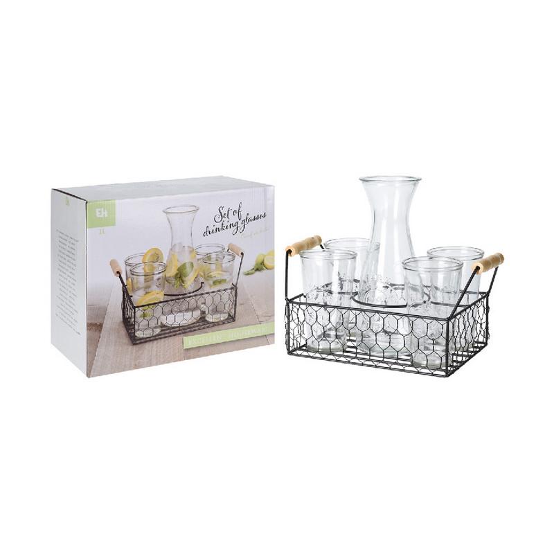 Набор стаканов с подставкой для пикника Excellent Houseware