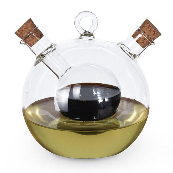 Емкость для масла и уксуса круглая 2 в 1 Excellent Houseware фото