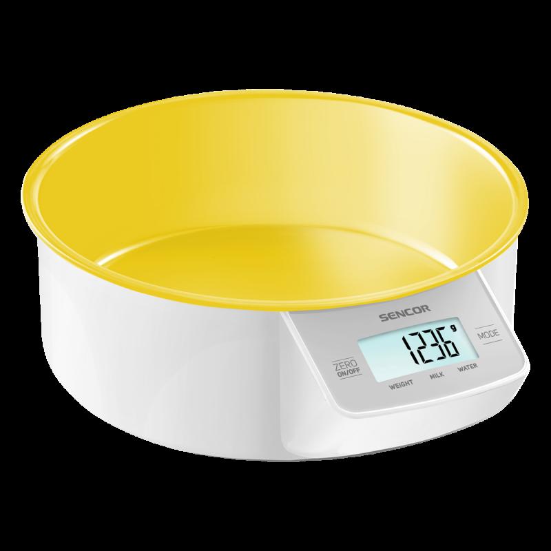 Весы кухонные Sencor желтые