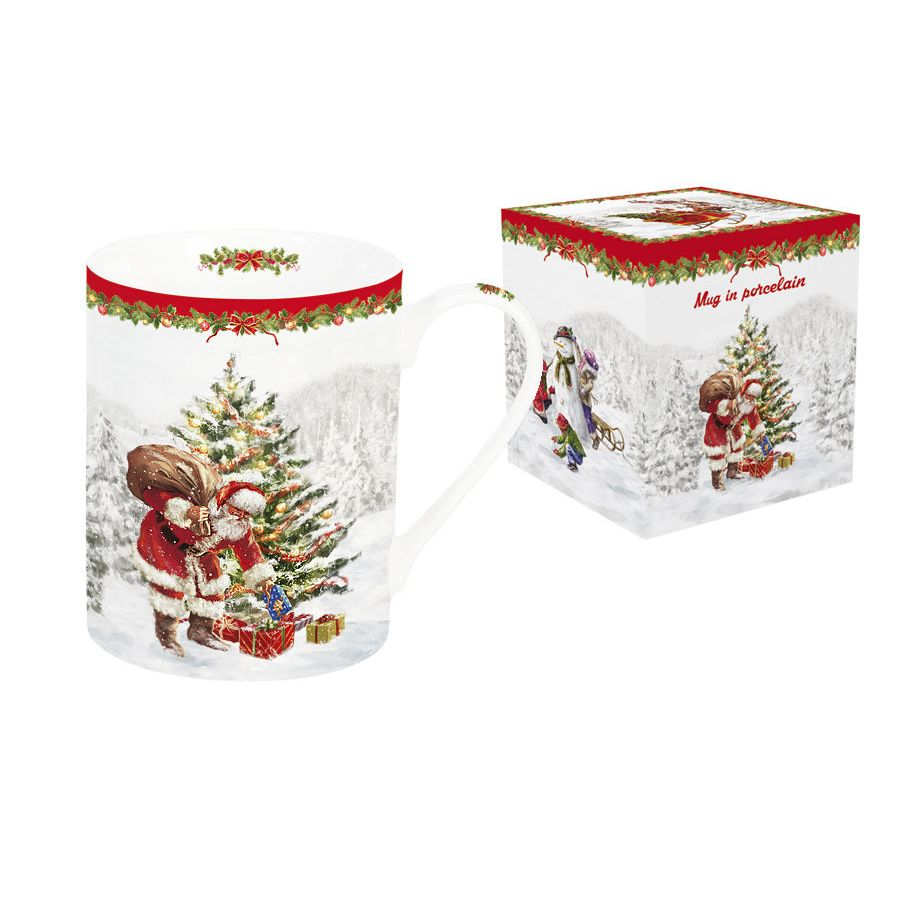 Кружка 300 мл. Дед Мороз с подарками<br>