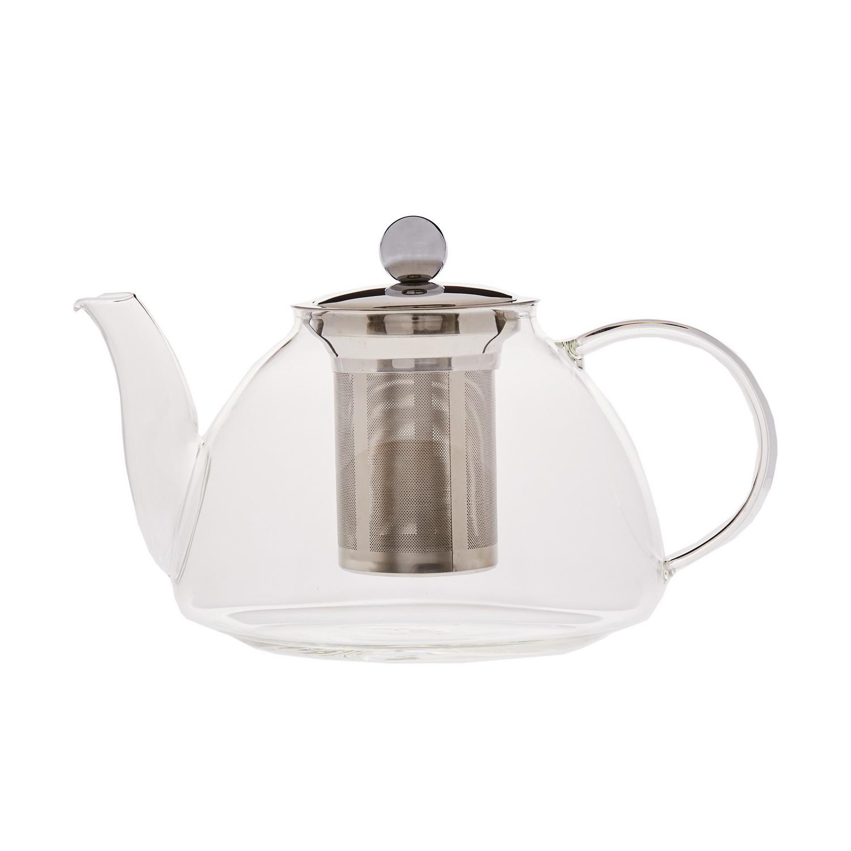 Чайник заварочный стеклянный с фильтром У-лун 1200млЧайник заварочный стеклянный с фильтром У-лун – удобный выбор для заваривания как черного, так и зеленого и других видов чая. Такая модель подходит для дома и офиса, а ее большой объем обеспечит чаем большую компанию. Изделие полностью изготовлено из стекла, отличающегося прочностью и не образующего сколов. Крышка выполнена из легкой нержавеющей стали. Металлическая сетка фильтра не позволяет чаинкам попадать в готовый напиток, гарантируя его кристальную чистоту. Чайник заварочный У-лун станет стильным украшением стола и подарит тепло вашему чаепитию.<br>