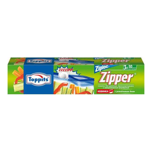 Пакеты с застёжкой для хранения, транспортировки и замораживания, 10шт х 3лПакетики с застежками очень удобны в использовании. Они пригодятся во время поездки, а так же для хранения и замораживания продуктов.<br>