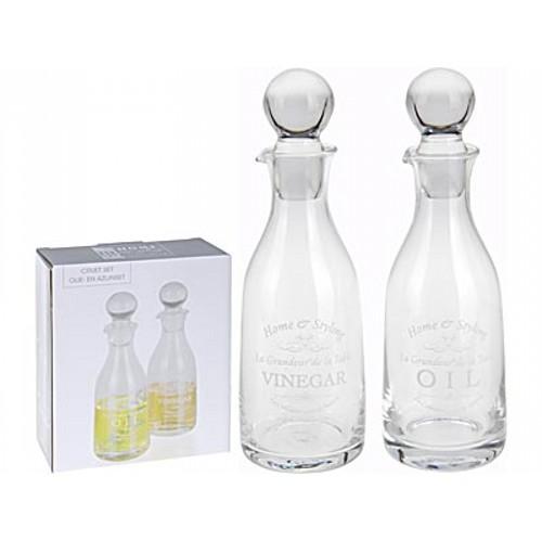 Набор бутылокБутылки сделаны из стекла. Отлично подойдут для хранения напитков в холодильнике либо различных жидкостей, например уксуса или растительного масла. Изысканность проявляется во всем!<br>