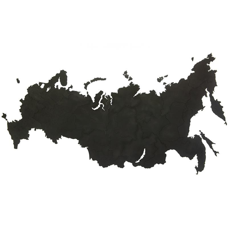 """Карта-пазл Wall Decoration """"Российская Федерация"""" 98х53 см черная фото"""