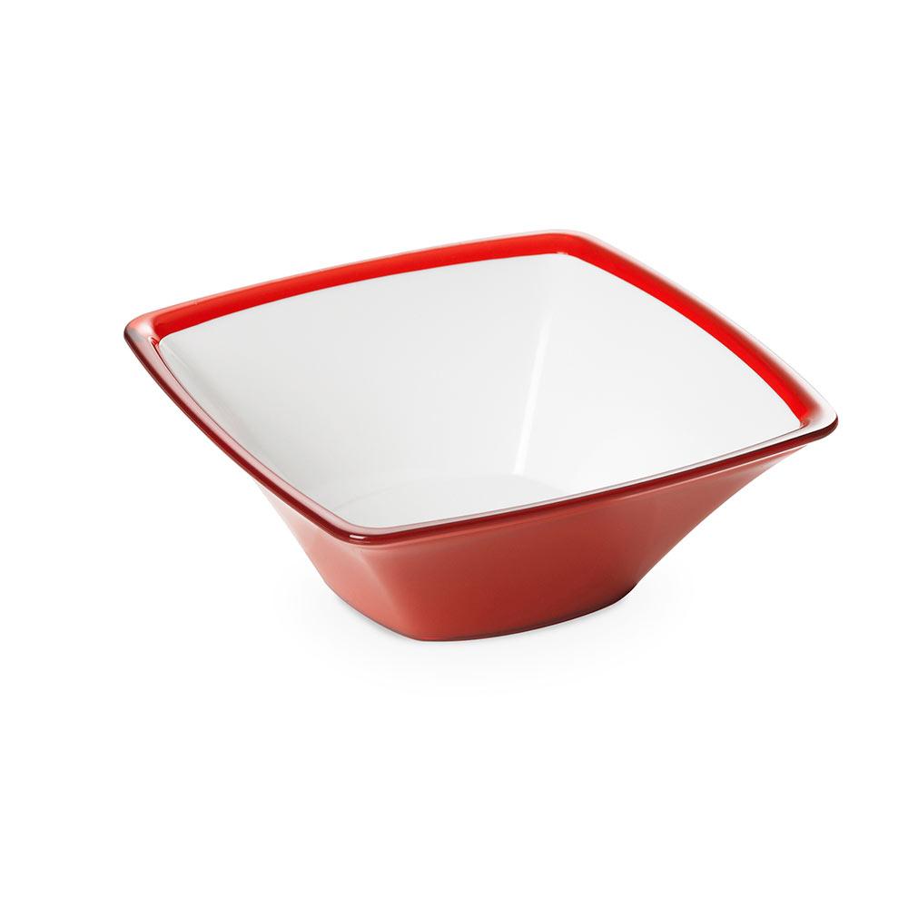 """Салатник квадратный Omada """",Square"""", красный 24,5 см"""