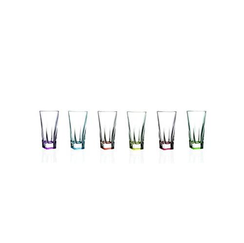 Набор стаканов д/воды 6 штук FUSION 200мл разноцветныеНабор стаканов для воды, состоящий 6 штук FUSION 200 мл разноцветные исполнен в современном дизайне в сочетании  с практичностью и роскошью. Свинцовый хрусталь объединяет в себе твердость<br>
