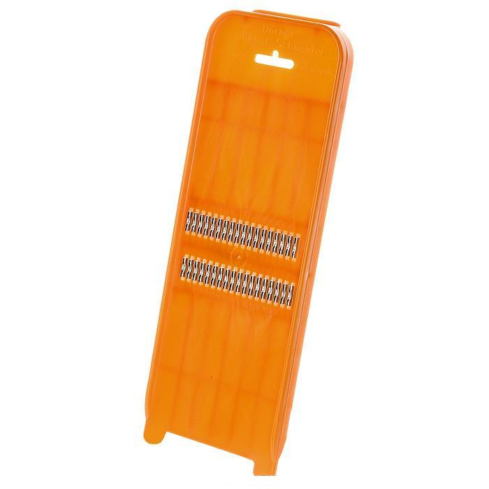 Роко-терка CLASSIC оранжеваяНемецкая компания Borner предлагает продукцию очень высокого качества. Роко-терка CLASSIC - отличное приобретение для тех, кто любит корейские салаты. С её помощью вы без особого труда приготовите вкусные салаты.<br>