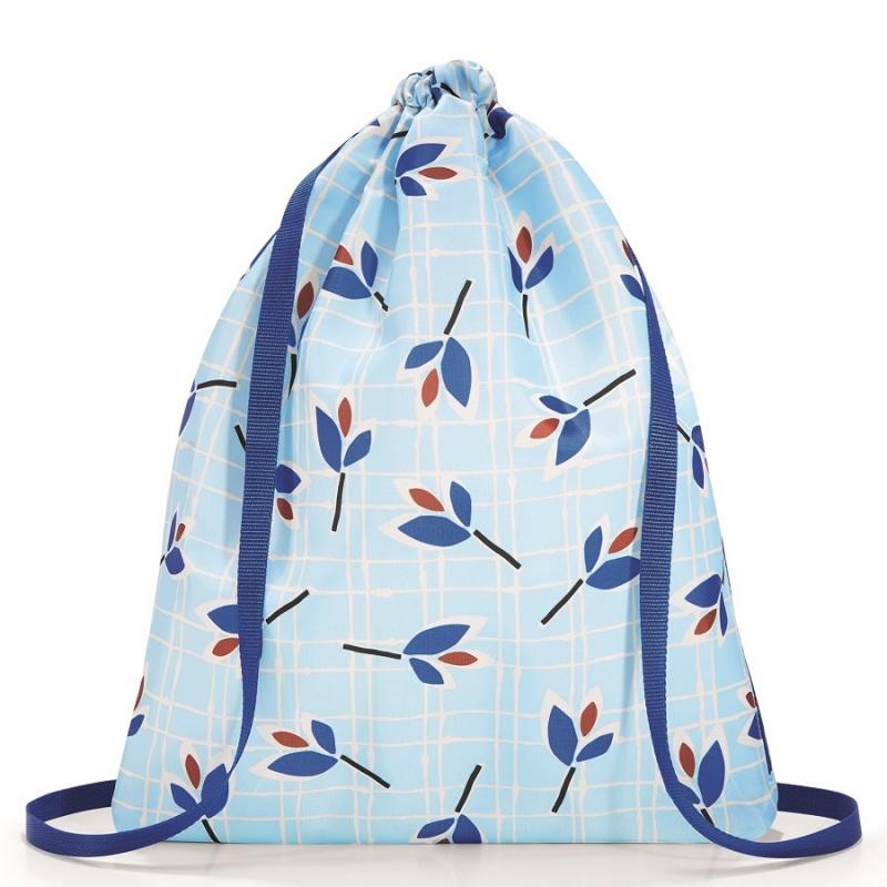 Рюкзак складной Reisenthel Mini maxi sacpack leaves blue фото