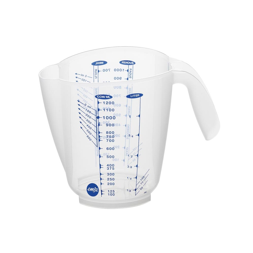 Стакан мерный 3 шкалы, 0,5л SUPERLINEМерный стакан SUPERLINE от EMSA поможет каждой хозяйке при приготовлении вкуснейших блюд для всей семьи. Благодаря нему вы с легкостью отмерите (нальете или сольете) необходимый объем продукта, а также сможете производить замеры небольших объемов при наклонении стакана в сторону ручки.<br>
