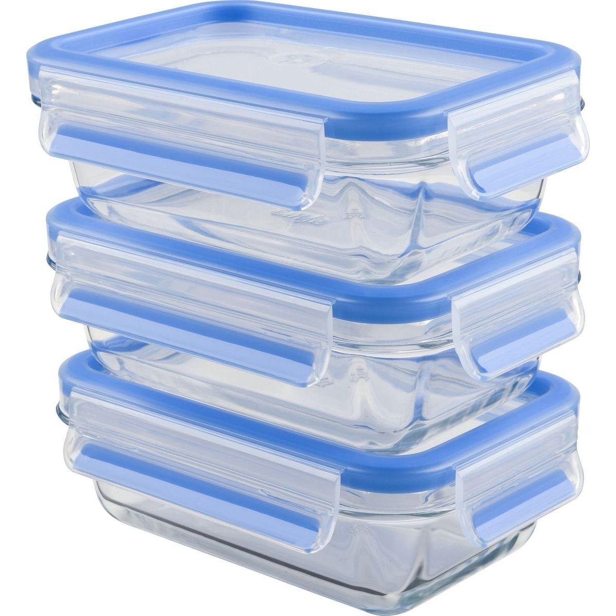 Набор из 3 контейнеров 0,5 л. CLIP&amp;CLOSE GLASSНабор из 3 контейнеров CLIP&amp;CLOSE GLASS 0,5л!<br>